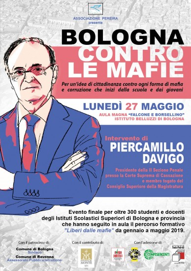 <strong>BOLOGNA CONTRO MAFIE E CORRUZIONE…CON PIERCAMILLO DAVIGO<strong>!