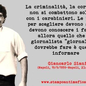 Giancarlo Siani_scritta