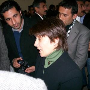 Leila Zana alla cerimonia
