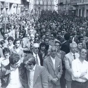 Manifestazione dopo la strage di Brescia