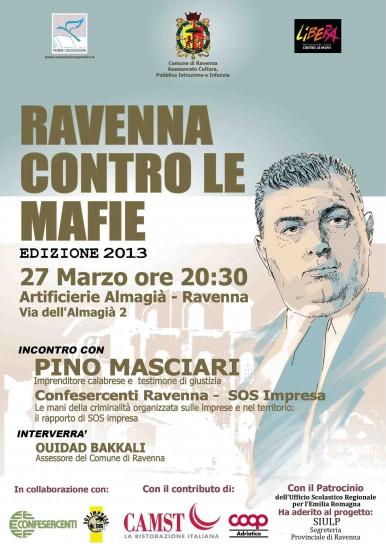 RAVENNA CONTRO LE MAFIE_2013: il Testimone di Giustizia PINO MASCIARI all'Almagià a Ravenna
